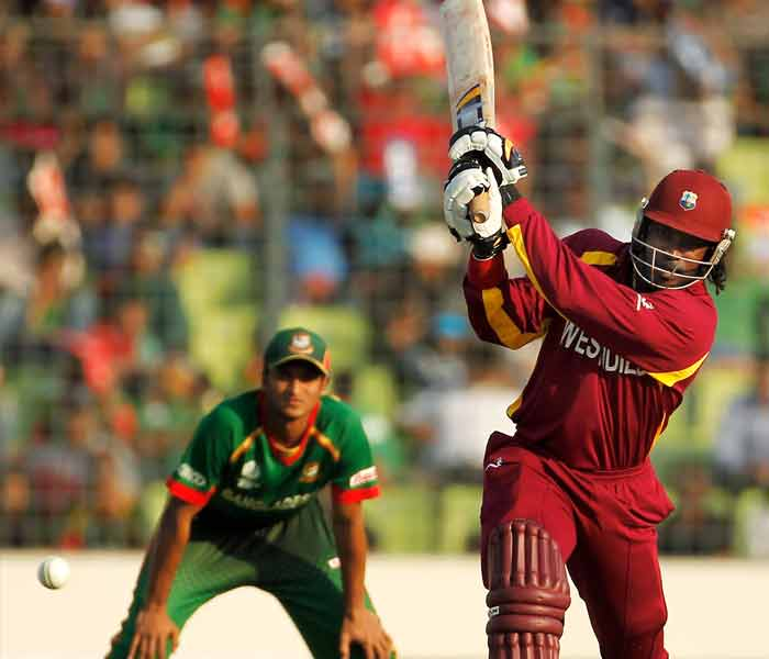 Chris Gayle started well even though he was reported to have been ill. He slammed six fours to shrug off any doubts about him. (Getty Images)