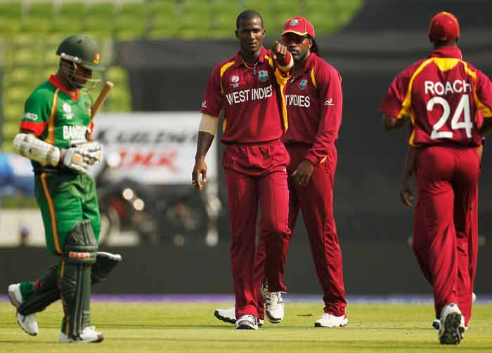 Sulieman Benn, who was introduced early into the attack, picked up four key wickets to rock the Bangladesh batting. West Indies needed just three bowlers to wrap up Bangladeshi innings. (Getty Images)