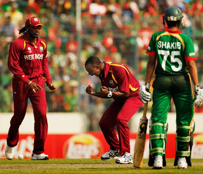 Bangladesh started off tentatively, losing wickets to last match's hat-trick man Kemar Roach and company. (Getty Images)