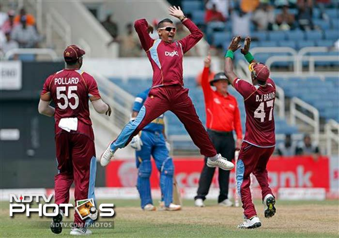 Sunil Narine finished with four wickets from his 10 over.