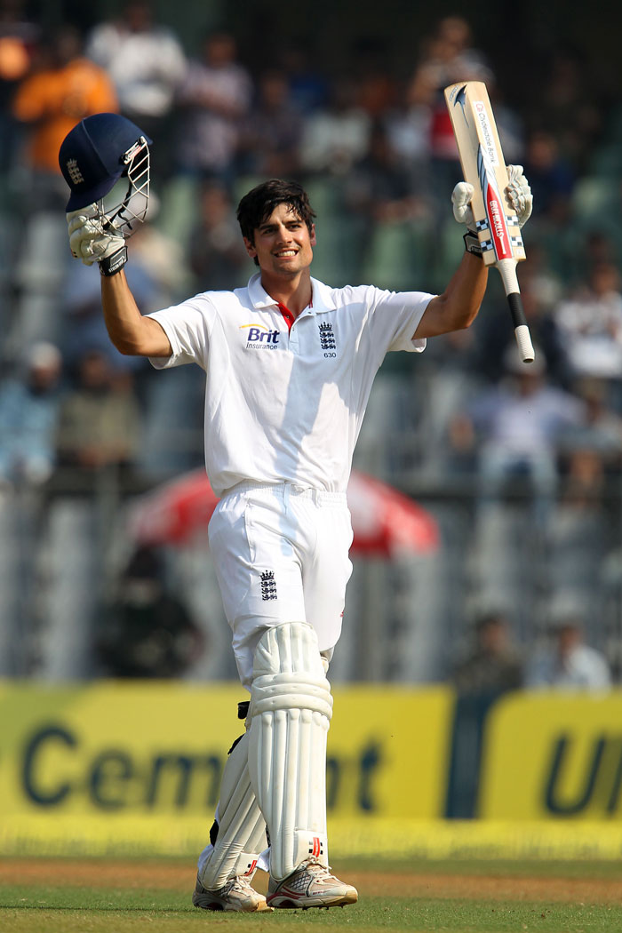 Captain Alastair Cook led by example yet again as he hit 122 runs to thwart any hopes of India getting the adavntage on the third day. (BCCI Photo)