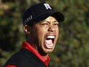 Tiger Woods scores roaring win