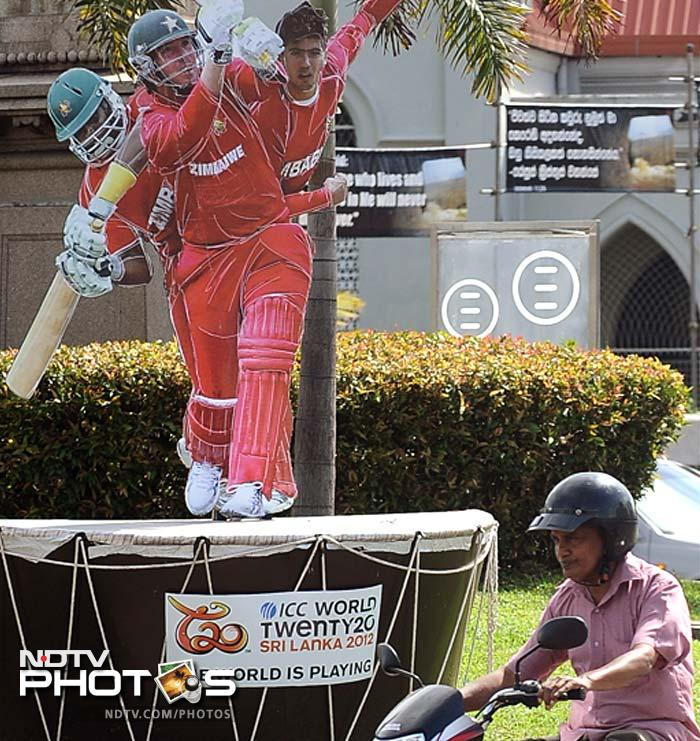 Colombo has been decorated with a cricket-theme to welcome the teams and fans. (AFP image)