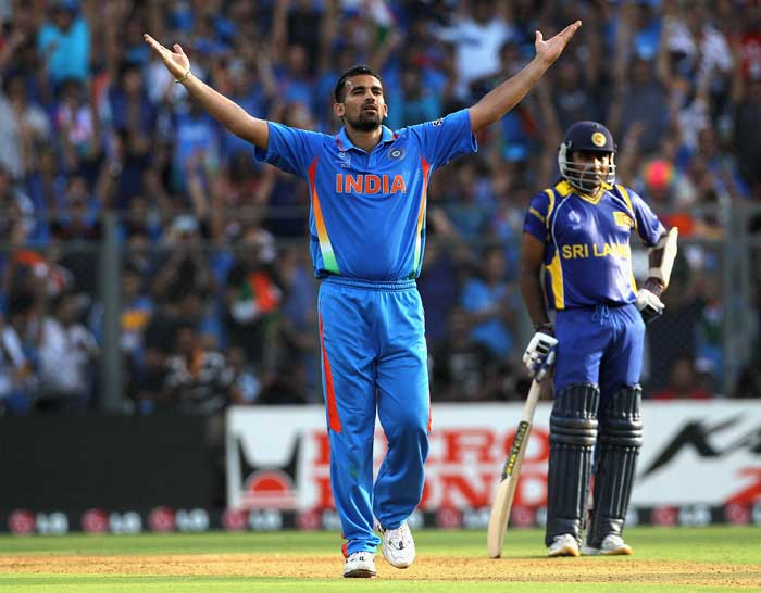 Sri Lanka lost their fifth wicket in the next over. Zaheer Khan picking up Chamara Kapugedera for just one run. (Getty Images)