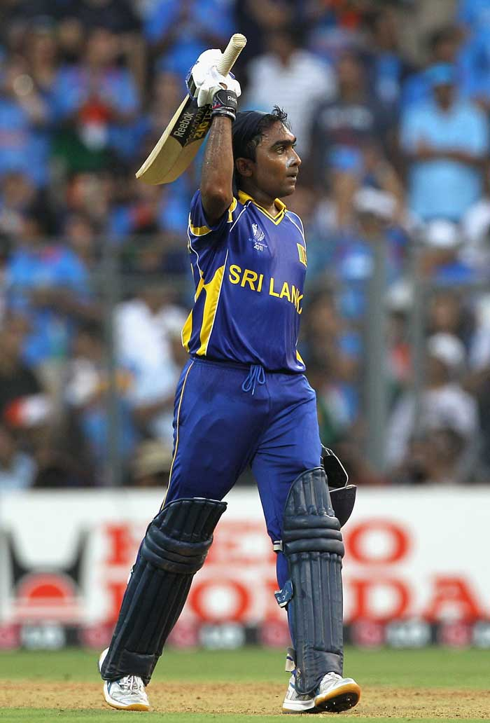 Mahela Jayawardena went on to score a hundred off just 84 balls. (Getty Images)