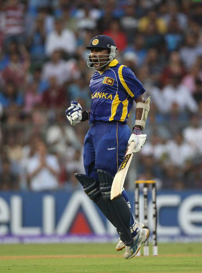 Jayawardena took Sri Lanka to a score of 274, in the end an extremely challenging total for India. (Getty Images)