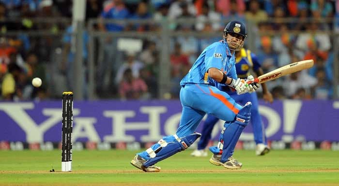 Gautam Gambhir, who had thrown his wicket away in the last two games after looking solid was joined at the crease by Virat Kohli. (AFP Photo)