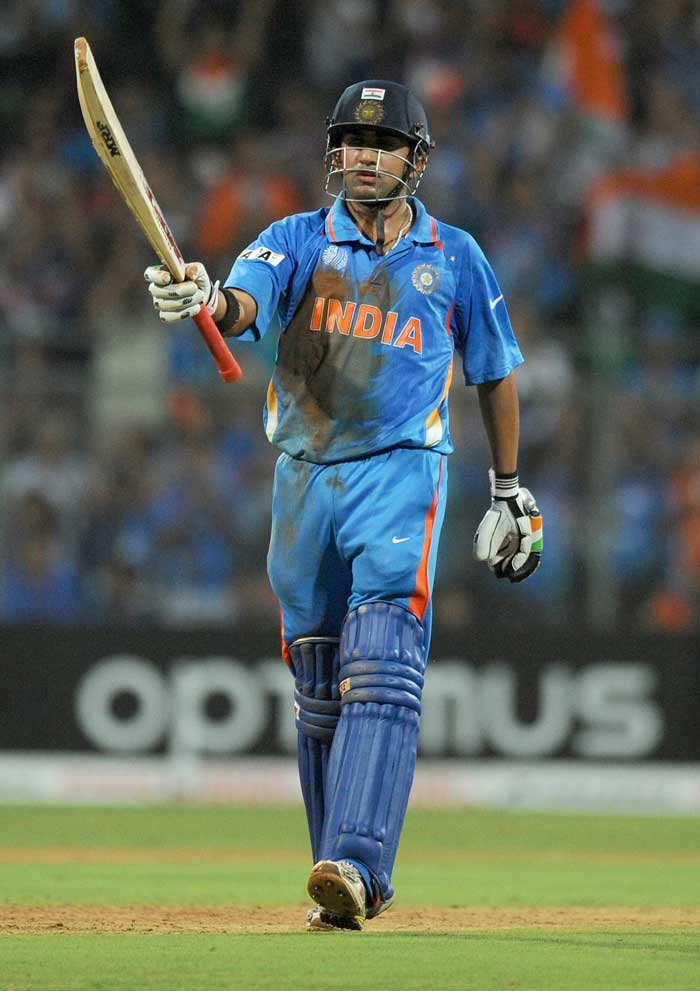 Gautam Gambhir scored a fighting fifty to take India's score past 100 in the 20th over. (AFP Photo)