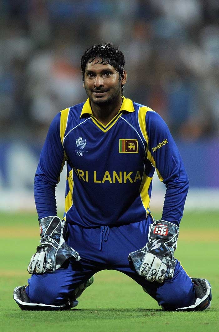 With all his options returning wicketless, Sri Lanka skipper Kumar Sangakkara looked out of ideas. (AFP Photo)