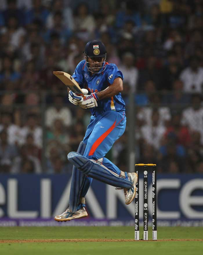 But skipper Mahendra Singh Dhoni went on to take India close to the total. (Getty Images)