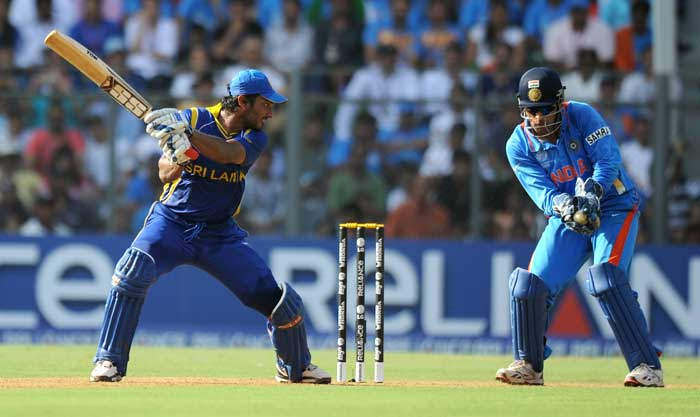The Lankan skipper was picked up by Yuvraj Singh, who has been in splendid form throughout the tournament. (AFP Photo)