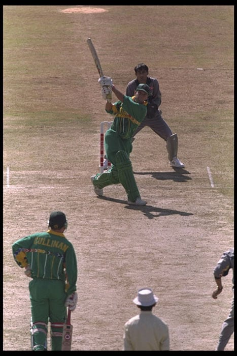 <b>Highest Individual score: Gary Kirsten - 188 not out</b><br><br> The South African opener and now Team India coach played the mammoth knock against minnows and newcomers UAE at Rawalpindi during a group match in the 1996 World Cup.<br><br> His knock was studded with 13 boundaries and 4 maximums and came in 159 balls.