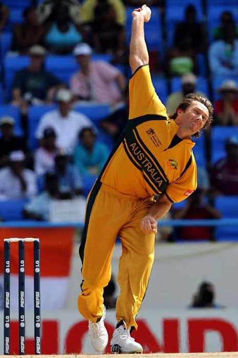 <b>Most Wickets: Glenn McGrath - 71 wickets</b><br><br> The Aussie paceman has produced several menacing spells to climb to the top of the tree amongst wicket-takers in the World Cup. His 71 wickets in 39 matches have come at an outstanding average of 18.19 and at a miserly economy rate of 3.96 runs per over.