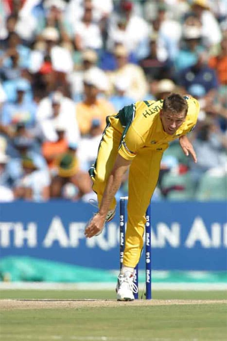 <b>Best Bowling: Glenn McGrath - 7/15</b><br><br> Pigeon was at his best against the hapless Namibian batting line-up as he ripped them apart with his incisive and accurate bowling during the victorious 2003 campaign.
