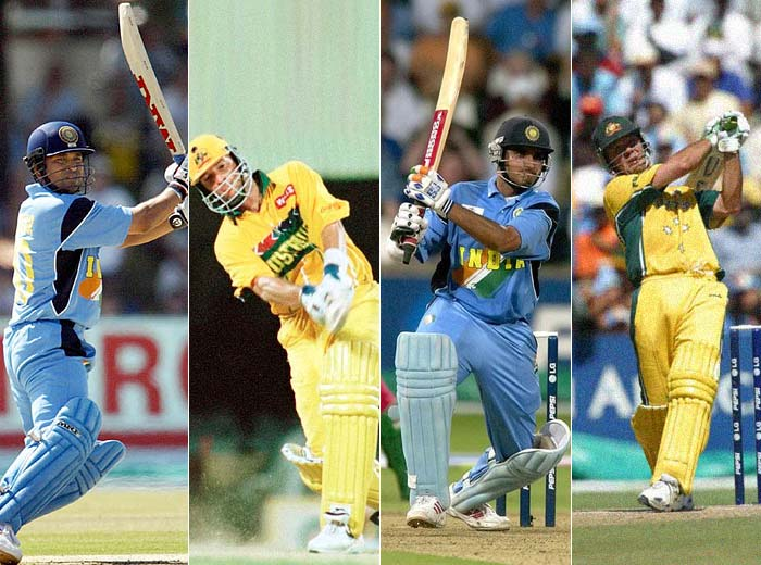 <b>Most Hundreds: Sachin Tendulkar, Sourav Ganguly, Mark Waugh and Ricky Ponting - 4 hundreds each</b><br><br> The four batsmen are tied for the top spot with 4 tons to each of their names. Ganguly though has achieved the feat in the least number of matches (21).