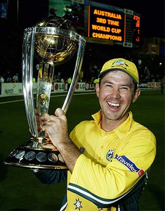 <b>Most wins as a captain: Ricky Ponting - 22</b><br><br> Ricky Ponting led the Australians to two World Cup wins in 2003 and 2007 and in both the tournaments the Aussies were crowned unbeaten champions.