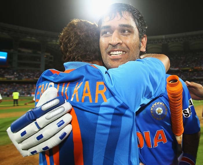 <b>From Me to You: </b>MS Dhoni played a Captain's knock steering India to that most coveted of prizes – the World Cup. And after winning said the team had won it for Sachin Tendulkar.