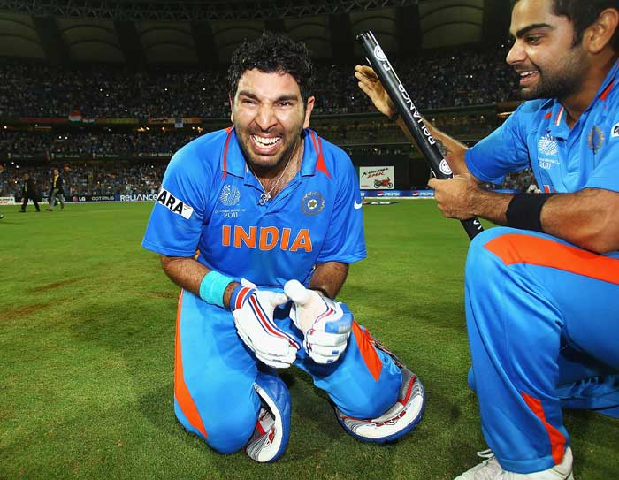 <b>Yuvraj is back: </b>This man began the cricket World Cup as among the players least expected to perform. But in game after game Yuvraj Singh proved he was the match winner he had always been known as till bad form and poor fitness struck him down. Here, tears of joy, relief.