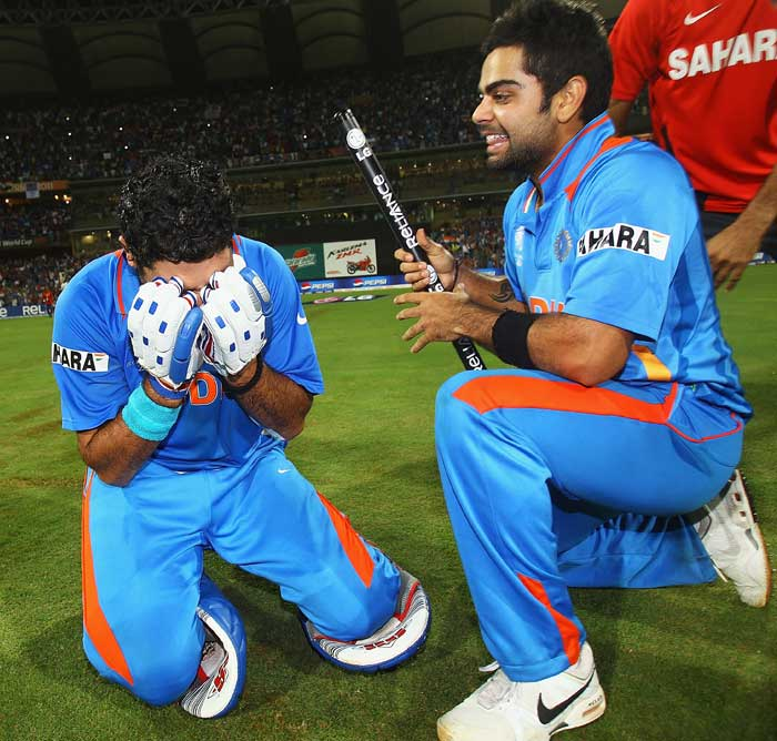 <b>At First, Disbelief: </b>Yuvraj Singh was super cool through the tournament. No more than pumping the air when he got breakthrough wickets, not raising his bat to mark his 50 against Australia till he had safely seen India through to the semi-finals. Not much emotion till this moment.