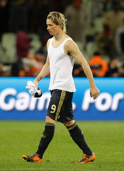 "<b>At number 5…</b> <b><br><br>Fernando Torres</b> <b><br><br>Date of Birth: </b> 20 March 1984 <b><br><br>Height: </b> 181 cm <b><br><br>Shirt number: </b> 9 <b><br><br>Position: </b> Forward <b><br><br>Country: </b> Spain <br><br>According to the reports, Barcelona are ready to make a massive £70 million bid for Liverpool striker Fernando Torres!! Barcelona are keen to sign Torres and they want the Liverpool forward to pair up with their new signing David Villa...as it would be a lethal combo.Though he has come a long way since his early days as a teenage prodigy at his first club Atletico Madrid, for Spanish football fans Fernando Torres will always be El Niño (The Boy). Torres's explosive bursts of pace, technique, aerial ability and lethal finishing continue to earn him admirers in his home city and beyond. (AP Photo) <br><br><a href=""http://www.ndtv.com/convergence/ndtv/new/forums/iframe/forums_common_detail.aspx?trdid=3455"" class=""text2_link"" target=""_blank""><b>Do you agree with this list? Send us your own</B></a>"