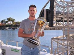 ICC World Cup Trophy Goes on a Shark Dive