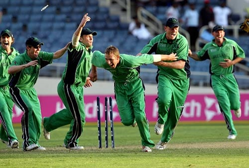 Minnows can stage cliffhangers too. Ireland and Zimbabwe ensured that their 2007 World Cup match was as much of a nail-biter as any. Zimbabwe would have been confident after bowling out their opposition for 221 at Kingston, Jamaica. Despite two half-centuries in reply though, they bowed out on the last delivery of their innings with the scores tied. (AFP Photo)