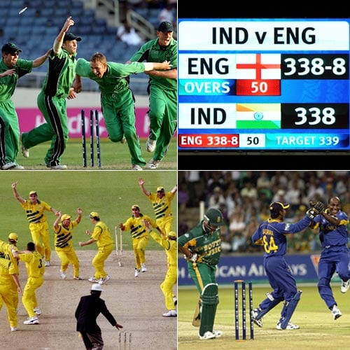 The Cricket World Cup has been the pinnacle event in the sport for 36 years. There have been epic victories and heart-breaking loses. And yet, drawn matches only made its debut as late as in 1999. There have been only four matches since that have finished with both teams finishing on the same side. A look at the WC contests that promised a lot but ended on an exhilarating no-win-no-loss result.