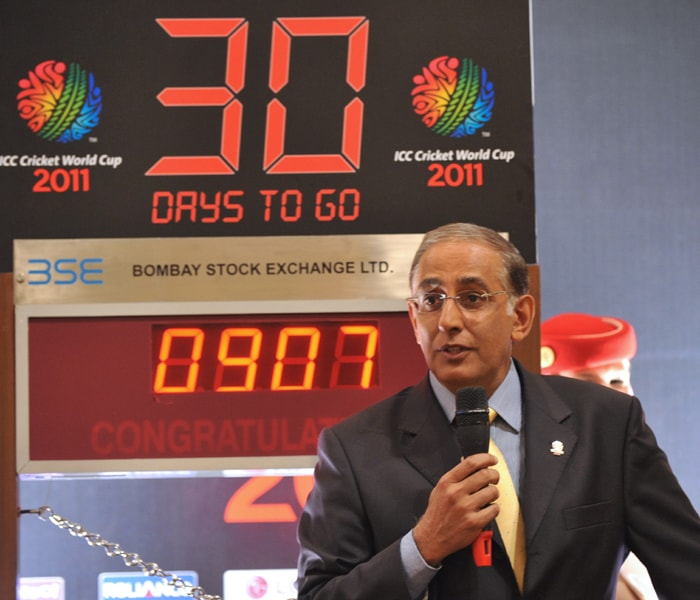 International Cricket Council (ICC) Chief Executive Haroon Lorgart speaks during the function. (AFP Photo)