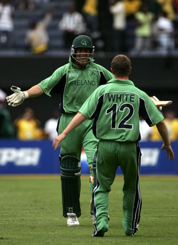 <b>2007: Ireland beat Pakistan by 3 wickets</b><br><br> Pakistan needed to win this match after losing the opener to West Indies. But the batting flopped again. This time against part-timers Ireland who bowled them out for just 132 runs. After rain interrupted play, Ireland were given a target of 128 from 47 overs.<br><br> Pakistan tried hard to fight back but a brilliant 72 by Niall O'Brien ensured that Ireland get their first win in the World Cup. As a result Ireland moved into the Super Six while Pakistan were dumped out of the tournament.