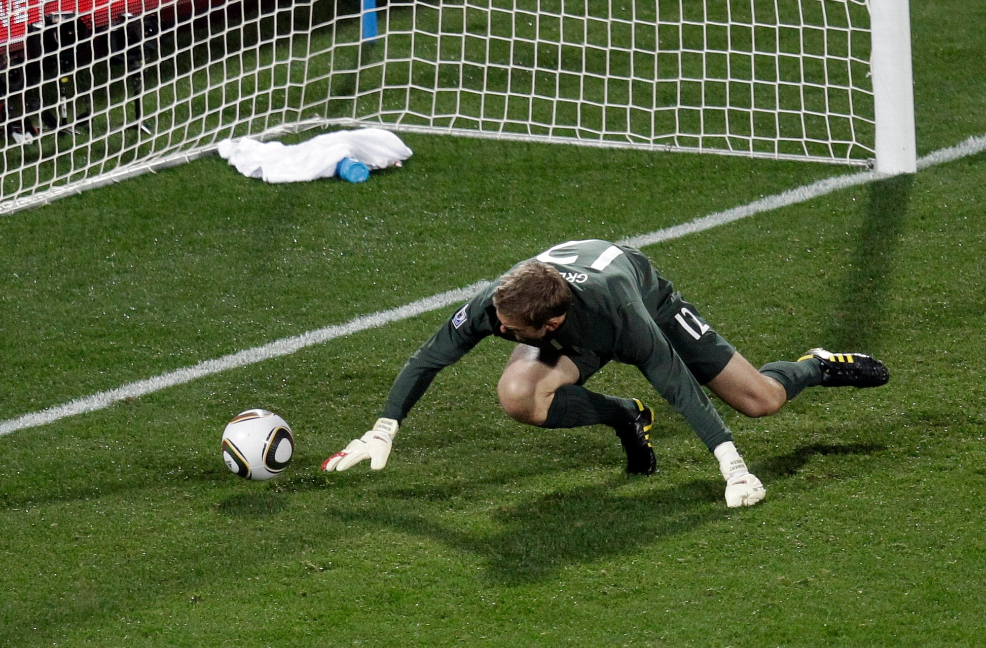 """The moment that came with a statutory warning for all England fans, """"Do not watch, injurious to health"""".<br><br> Well, even if you choose to be less dramatic, England goal-keeper Robert Green's blunder against USA not only meant that the 'Three Lions' got just a point from their first game, it also ensured that they do not top the group and ended up playing the indomitable Germans who dumped them out of the tournament after a 4-1 drubbing."""