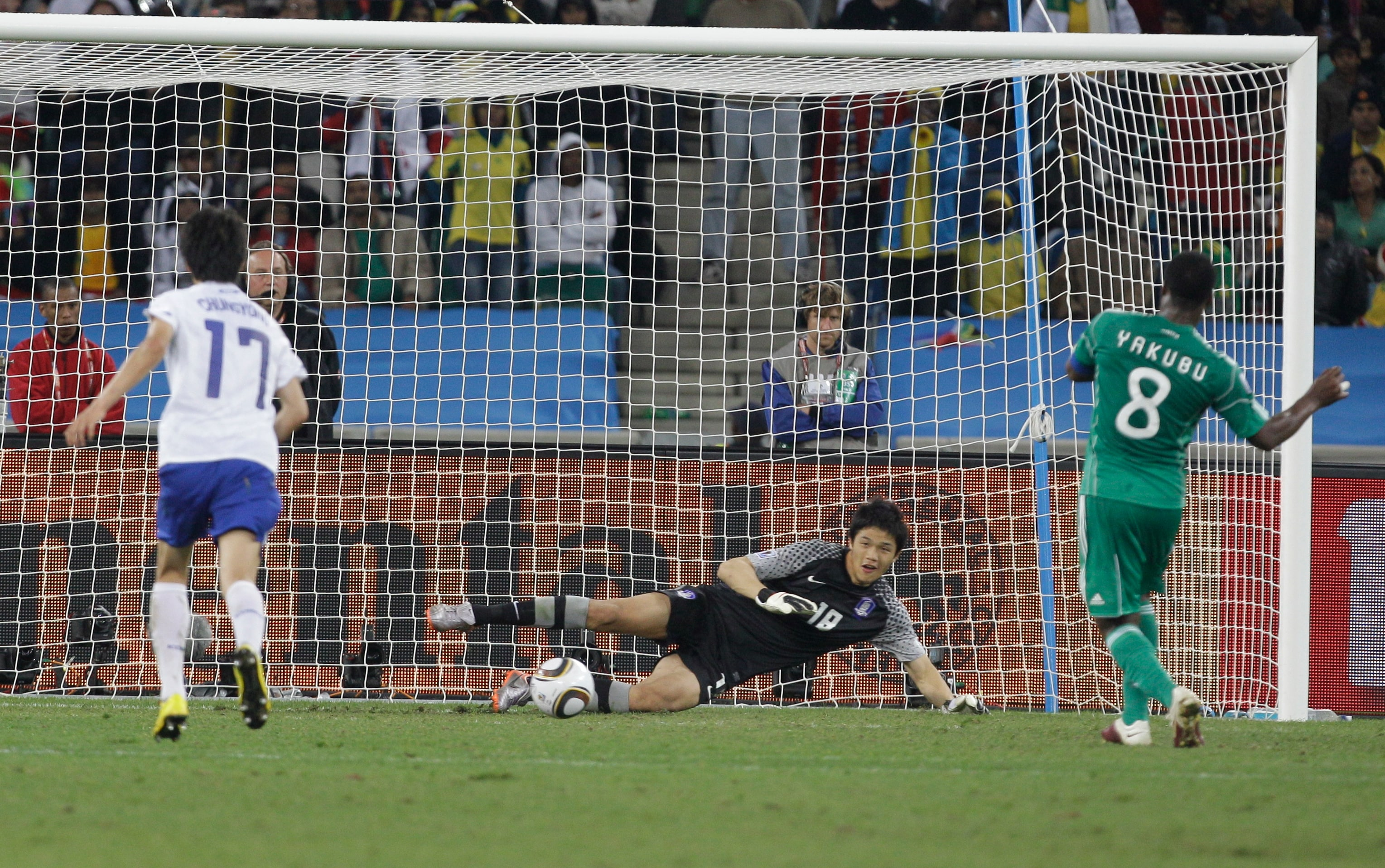 The Nigerian 'Super Eagles' have ceased to be the dominating force in Africa and their listless performance in the this edition of the World Cup is a paragon of their demise.<br><br> This miss from striker Yakubu is representative of the poor show that the Nigerians put up in Africa's first ever World Cup.<br><br> Miserable is an understatement.
