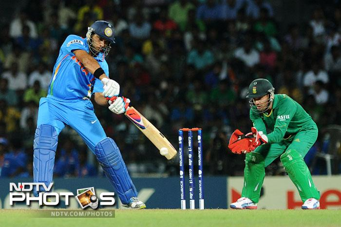 Yuvraj Singh was looking in good touch as he smashed 21 runs from 15 balls before being yorked by Morne Morkel.
