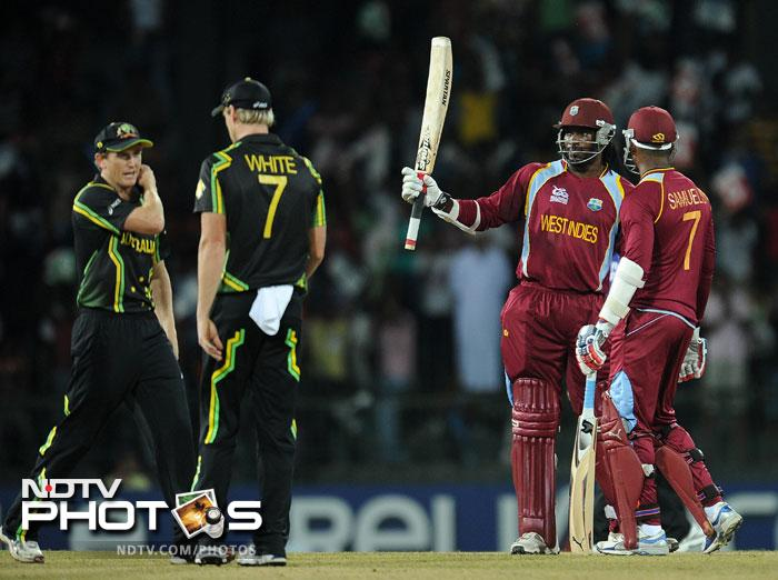 Opting to bat first, West Indies got off to the explosive start they wanted as birthday boy Chris Gayle smashed 54 runs of 33 balls that contained 5 fours and 4 sixes.