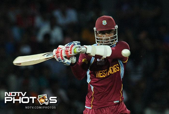 Marlon Samuels provided Gayle excellent support as he stroked a fifty from just 32 balls as they unleashed carnage on the Australian bowlers who had no idea where to pitch their deliveries.