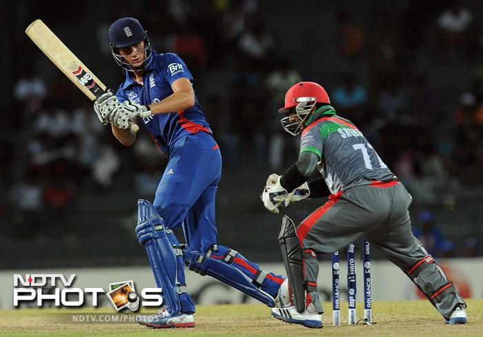 He was given good support by Alex Hales who hit 31 as the duo put on 69 runs for the second wicket and effectively batted the Afghans out of the game.