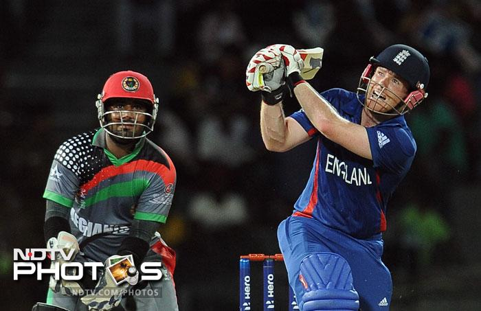 Eoin Morgan scored a crucial 27 towards the end, and along with Jos Buttler, who hit a quick 15 from 7 balls, ensured that England finished off with a daunting 196/5 from their 20 overs.