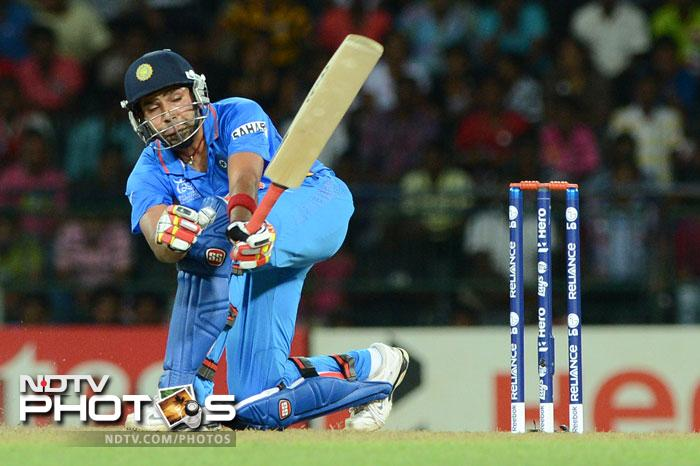 The finishing touches to the innings were given by Rohit Sharma who hit a well made 55 with 5 fours and a huge 6 over the cover region. His contribution was the reason India finished with 170/4 in their 20 overs.