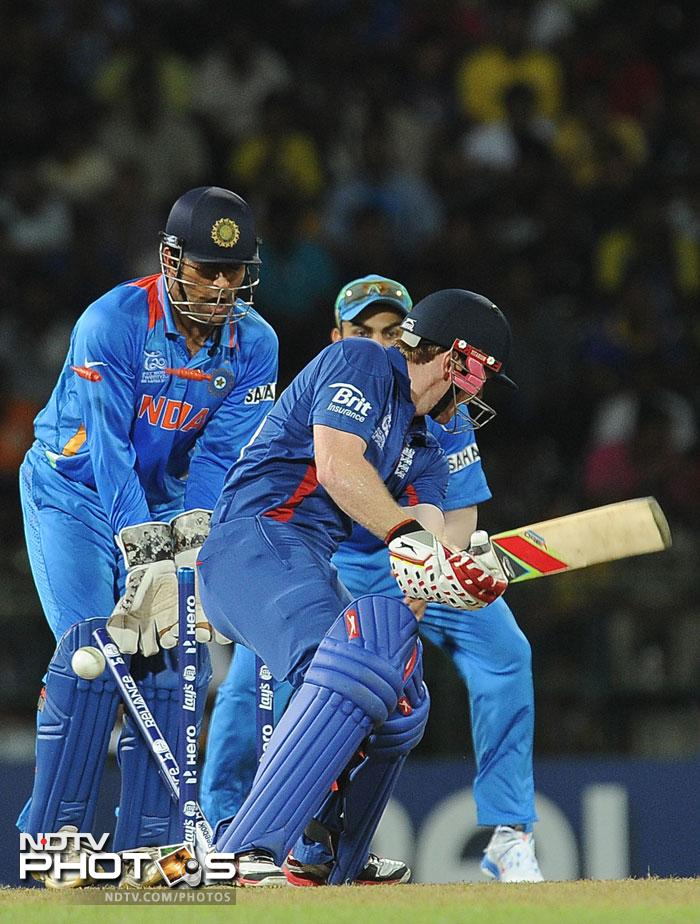England were finally bowled out for 80. The 90 run win was India's biggest margin of victory in T20 Internationals. England narrowly escaped being bowled out for the lowest score in the format. This win will keep Team India pumped up for the Super Eights whereas England have to get their act together before the next phase of the tournament.