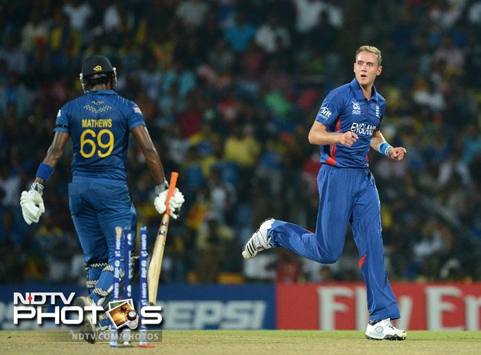 Stuart Broad bowled some tight overs scalping 3 wickets and it seemed that Sri Lanka would not get more than 150 at one point.
