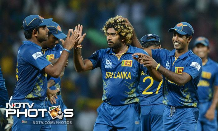 Thanks to a brilliant allround display by the players, Sri Lanka ended England's run in the World T20 after beating them by 19 runs. Needing a win to qualify for the semis, England fell woefully short of their target. (Photos AFP & AP)