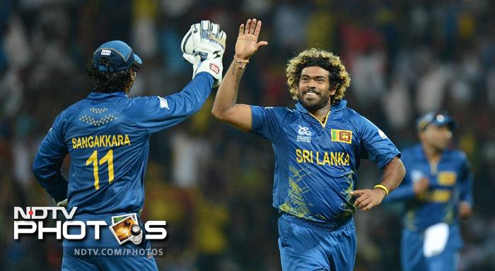Lasith Malinga did not help the English cause as he picked up 3 wickets in his very first over getting Wright, Hales and Bairstow. He would finish off with 5 wickets in the innings.