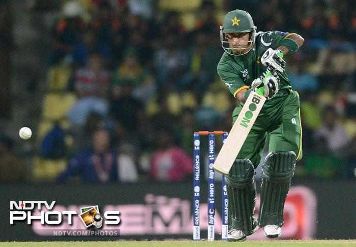 Mohammad Hafeez hit 45 runs from 47 balls and the duo put on 124 for the first wicket. Needing just 140 to qualify for the Super Eights, Pakistan's opening stand effectively shut out Bangladesh from the tournament.