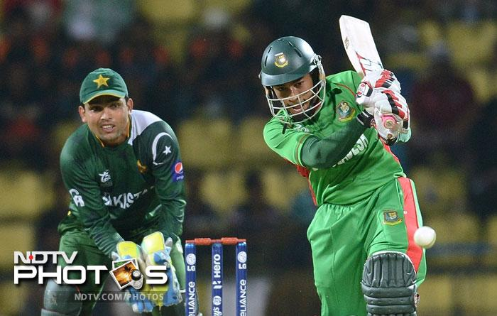 Skipper Mushfiqur Rahim provided good support with a patient 25 and with Nasir Hossain providing the finishing touches, Bangladesh set a target of 176 which would take some getting by the Pakistanis.