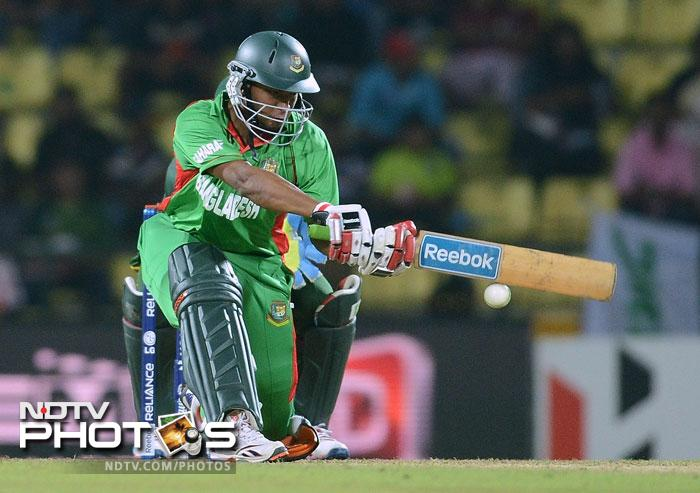 Shakib Al Hasan demonstrated his value to the team as he took the Pakistani bowlers apart hitting 84 off 54 balls with 11 fours and 2 sixes. Even Saeed Ajmal failed to contain him.