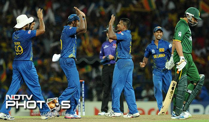 But the pick of the bowlers was Rangana Herath who took three wickets. He got Shoaib Malik early and then dismissed Mohammad Hafeez and Shahid Afridi off successive deliveries to effectively turn the match on its head.