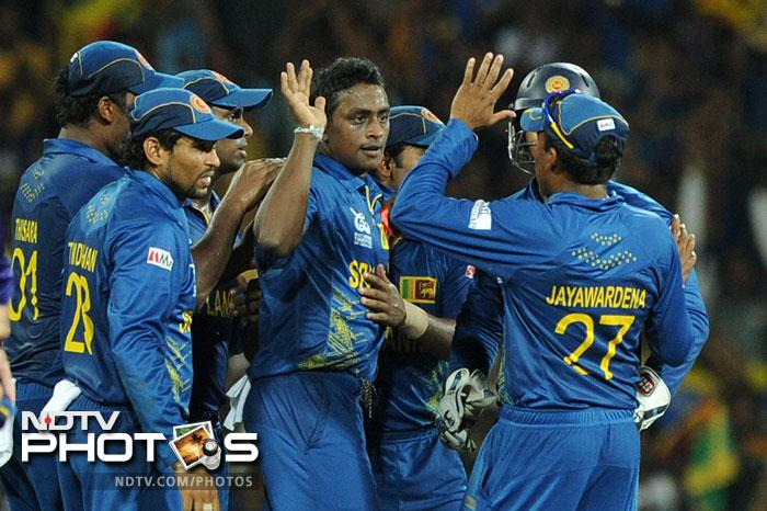 A spirited performance by hosts Sri Lanka ensured that they earned their place in the final. It was a good win over Pakistan as they outplayed them by 16 runs in the semifinal and avenged their defeat at the hands of the same opponents in the 2009 Final. (All AFP Photos)
