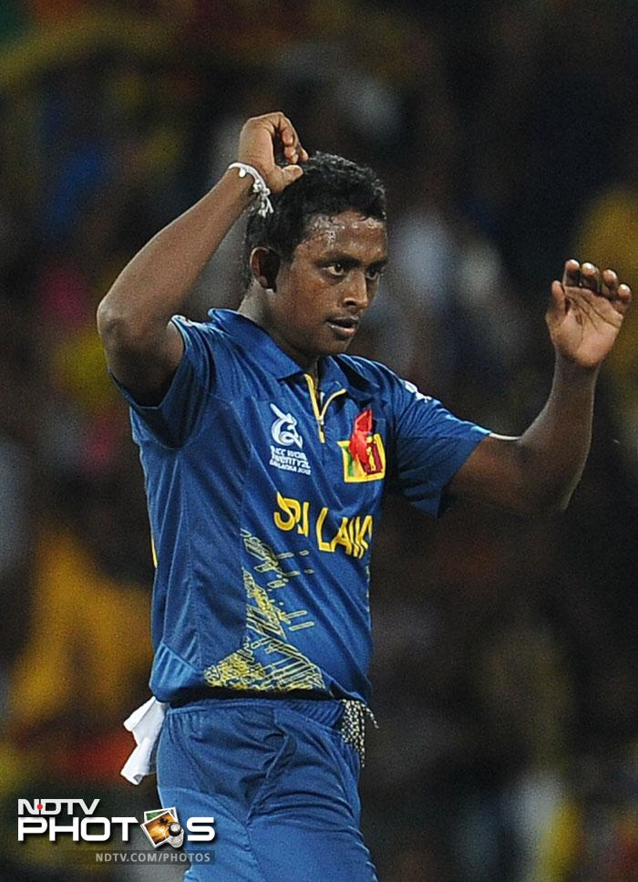But the mystery man Ajantha Mendis pegged back Pakistan's acceleration taking the wickets of Imran Nazir at the start and Sohail Tanvir towards the end.