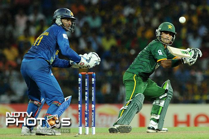 Hafeez came to the party with the bat as well as he scored 42 runs from 40 balls and looked to take Pakistan to victory.
