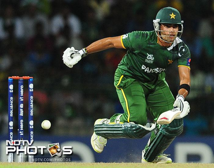 Umar Akmal bravely fought till the end hitting 29 not out off 22 balls with 3 boundaries in a bid to make a match of it.