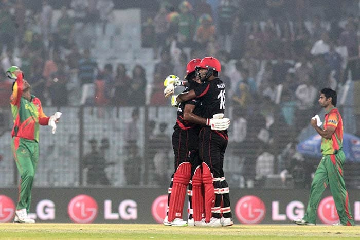 In reply, the Hong Kong batsmen held their nerve and despite losing eight wickets sealed the game in the final over. Bangladesh, however, have now qualified for the Super-10 even after facing defeat in their final qualifier tie.